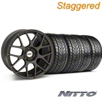 TSW Staggered Nurburgring Matte Gunmetal Wheel & NITTO Tire Kit - 20x8.5/10 (05-14 All) - TSW KIT 27356