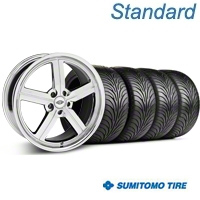 Chrome Huntington Bolsa Wheel & Sumitomo Tire Kit - 18x9 (05-14 GT, V6) - Huntington KIT 35206||63008
