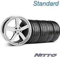 Chrome Huntington Bolsa Wheel & NITTO Tire Kit - 18x9 (05-14 GT, V6) - Huntington KIT 35206||76009
