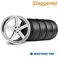 Staggered Chrome Huntington Bolsa Wheel & Sumitomo Tire Kit - 20x9/10 (05-14 GT, V6) - Huntington KIT 35202||35203||63024||63025