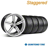 Huntington Staggered Bolsa Machined Wheel & Sumitomo Tire Kit - 20x9/10 (05-14 GT, V6) - Huntington 35201||63024||63025||KIT 35200