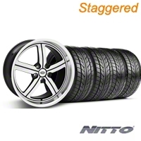 Staggered Machined Huntington Bolsa Wheel & NITTO Tire Kit - 20x9/10 (05-14 GT, V6) - Huntington KIT 35200||35201||76005||76006