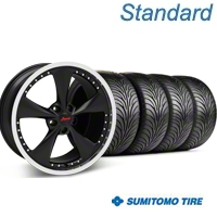 Matte Black Bravado Americana II Wheel & Sumitomo Tire Kit - 18x9 (05-14 GT, V6) - Konig KIT 35103||63008