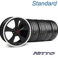 Konig Bravado Americana II Matte Black Wheel & NITTO Tire Kit - 18x9 (05-14 GT, V6) - Konig 76009||KIT 35103