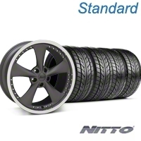 Matte Graphite Bravado Americana II Wheel & NITTO Tire Kit - 18x9 (05-14 GT, V6) - Konig KIT 35102||76009