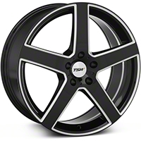 Black Machined TSW Rivage Wheel - 19x8 (05-14 All) - TSW 1980RIV305114B76