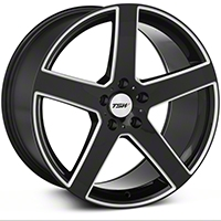 TSW Rivage Black Machined Wheel - 19x9.5 (05-14 All) - TSW 1995RIV405114B76
