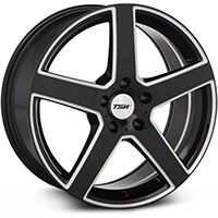 Black Machined TSW Rivage Wheel - 18x8 (94-04 All) - TSW 1880RIV205114B76