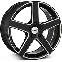 TSW Rivage Black Machined Wheel - 18x8 (05-14 All) - TSW 1880RIV405114B76
