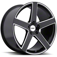 TSW Rivage Black Machined Wheel - 18x9.5 (94-04 All) - TSW 1895RIV205114B76