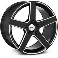 TSW Rivage Black Machined Wheel - 18x9.5 (05-14 All) - TSW 1895RIV405114B76