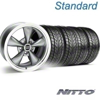 Anthracite Bullitt Wheel & Nitto Tire Kit - 18x8 (99-04 All) - AmericanMuscle Wheels KIT||28315||76002