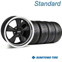 Matte Black Bullitt Wheel & Sumitomo Tire Kit - 18x8 (99-04 All) - AmericanMuscle Wheels KIT||28318||63005