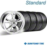 Bullitt Chrome Wheel & Sumitomo Tire Kit - 18x8 (05-14 GT, V6) - American Muscle Wheels 28317||63039||KIT