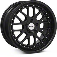 Matte Black TSW Valencia Wheel - 18x9.5 (94-04 All) - TSW 1895VAL205114M76