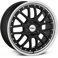 TSW Valencia Black Wheel - 18x8 (94-04 All) - TSW 1880VAL205114B76