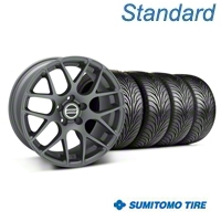 Charcoal AMR Wheel & Sumitomo Tire Kit - 18x8 (99-04 All) - AmericanMuscle Wheels KIT||28327||63005