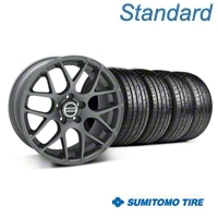 Charcoal AMR Wheel & Sumitomo Tire Kit - 18x8 (05-14 All) - AmericanMuscle Wheels KIT||28327||63039