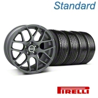 Charcoal AMR Wheel & Pirelli Tire Kit - 19x8.5 (05-14 All) - AmericanMuscle Wheels KIT||28336||63101
