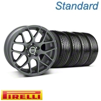 Charcoal AMR Wheel & Pirelli Tire Kit - 19x9.5 (05-12 All)