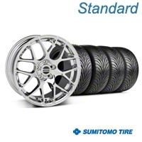 Chrome AMR Wheel & Sumitomo Tire Kit - 18x8 (94-98 All) - AmericanMuscle Wheels KIT||28325||63029