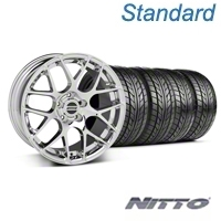 Chrome AMR Wheel & Nitto Tire Kit - 18x9 (99-04 All) - AmericanMuscle Wheels KIT||28328||76013