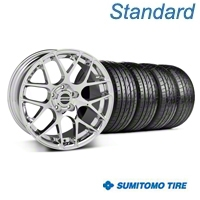 Chrome AMR Wheel & Sumitomo Tire Kit - 18x8 (05-14 All) - AmericanMuscle Wheels KIT||28325||63039