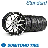 Matte Black Machined AMR Wheel & Sumitomo Tire Kit - 18x9 (05-13 All)
