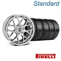 Chrome AMR Wheel & Pirelli Tire Kit - 18x8 (05-14 All) - AmericanMuscle Wheels KIT||28325||76002