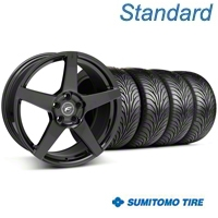 Forgestar CF5 Piano Black Wheel & Sumitomo Tire Kit - 18x9 (05-14 All) - Forgestar 29618||63008||KIT
