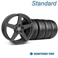 Forgestar CF5 Matte Black Wheel & Sumitomo Tire Kit - 18x9 (05-14 All) - Forgestar 29602||63008||KIT