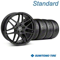 Forgestar F14 Piano Black Wheel & Sumitomo Tire Kit - 18x9 (05-14 All) - Forgestar 29622||63008||KIT