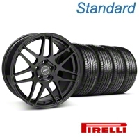 Forgestar F14 Piano Black Wheel & Pirelli Tire Kit - 19x9 (05-14 All) - Forgestar 29620||63101||KIT