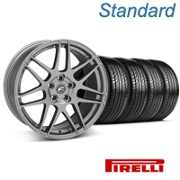 Forgestar F14 Gunmetal Wheel & Pirelli Tire Kit - 19x9 (05-14 All) - Forgestar 29612||63101||KIT