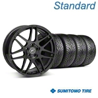 Forgestar F14 Matte Black Wheel & Sumitomo Tire Kit - 18x9 (05-14 All) - Forgestar 29606||63008||KIT