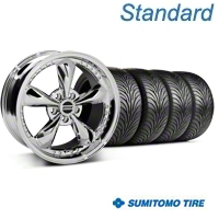 Bullitt Motorsport Chrome Wheel & Sumitomo Tire Kit - 18x9 (05-14 GT, V6) - American Muscle Wheels KIT10114