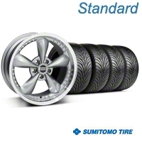 Anthracite Bullitt Motorsport Wheel & Sumitomo Tire Kit - 18x9 (94-98 All) - AmericanMuscle Wheels KIT10117||63005