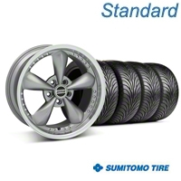 Anthracite Bullitt Motorsport Wheel & Sumitomo Tire Kit - 18x9 (05-14 GT, V6) - AmericanMuscle Wheels KIT 10118||63008