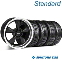 Bullitt Matte Black Wheel & Sumitomo Tire Kit - 17x8 (05-14 V6; 05-10 GT) - American Muscle Wheels KIT 28300G05