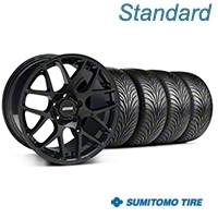 AMR Black Wheel & Sumitomo Tire Kit - 18x9 (05-14 All) - American Muscle Wheels 33782||63008||KIT
