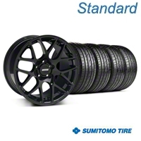 AMR Black Wheel & Sumitomo Tire Kit - 19x8.5 (05-14 All) - American Muscle Wheels 33783||63036||KIT