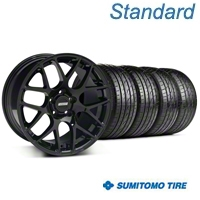 Black AMR Wheel & Sumitomo Tire Kit - 19x8.5 (94-98 All) - AmericanMuscle Wheels KIT||33783||63035