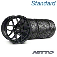 AMR Black Wheel & NITTO Tire Kit - 18x9 (05-14 All) - American Muscle Wheels KIT