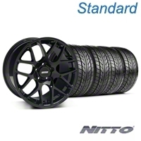 AMR Black Wheel & NITTO Tire Kit - 18x9 (99-04 All) - American Muscle Wheels 33782||76013||KIT