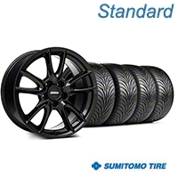 Track Pack Style Gloss Black Wheel & Sumitomo Tire Kit - 18x9 (05-14 GT, V6) - American Muscle Wheels KIT||63008||35627