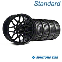 2013 GT500 Style Gloss Black Wheel & Sumitomo Tire Kit - 20x8.5 (05-14 GT, V6) - American Muscle Wheels KIT||63024||35635