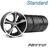 Shelby CS70 Matte Black Wheel & NITTO Tire Kit - 20x9 (05-14 All) - Shelby 33902||76005||KIT
