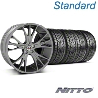Shelby CS1 Gunmetal Wheel & NITTO Tire Kit - 20x9 (05-14 All) - Shelby 33904||76005||KIT