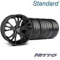 Shelby CS1 Matte Black Wheel & NITTO Tire Kit - 20x9 (05-14 All) - Shelby 33906||76005||KIT