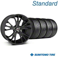 Shelby CS1 Matte Black Wheel & Sumitomo Tire Kit - 20x9 (05-14 All) - Shelby 33906||63024||KIT